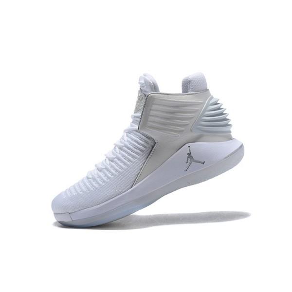 Men 2018 Air Jordan 32 Pure Platinum White Metallic Silver
