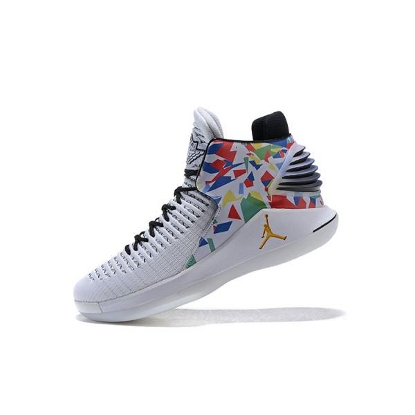 Men 2018 Air Jordan 32 White Multi Color