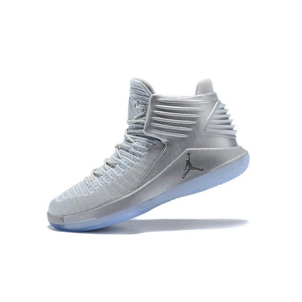 Men Air Jordan 32 Pure Platinum Basketball Shoes