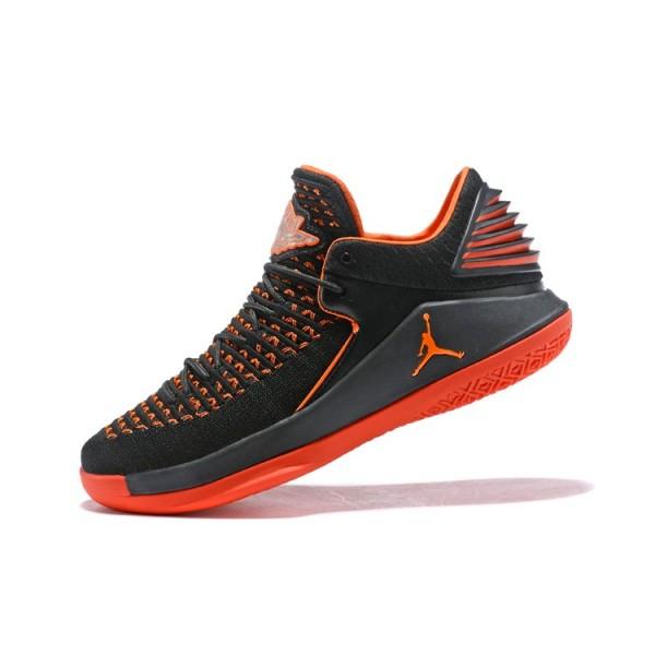 Men New Air Jordan 32 Low Black Orange
