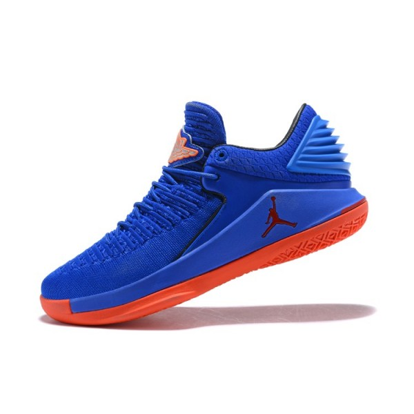 Men New Air Jordan 32 Low Blue Orange