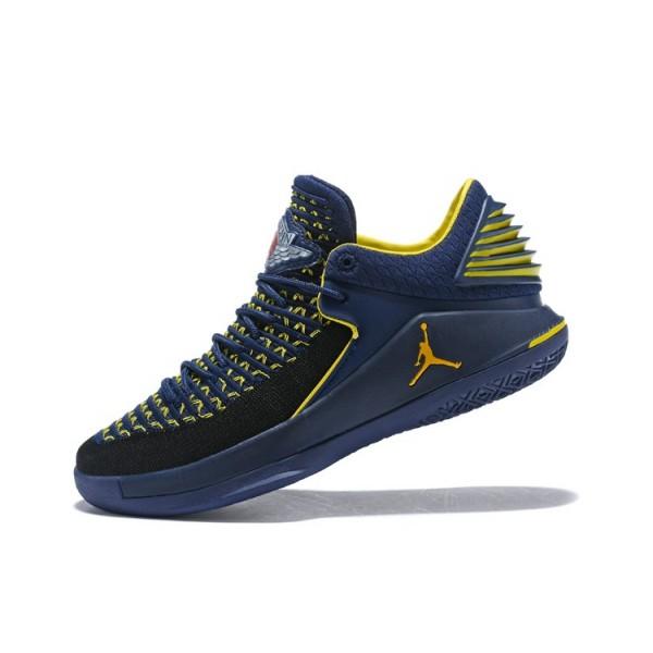 Men New Air Jordan 32 Navy Maize Yellow