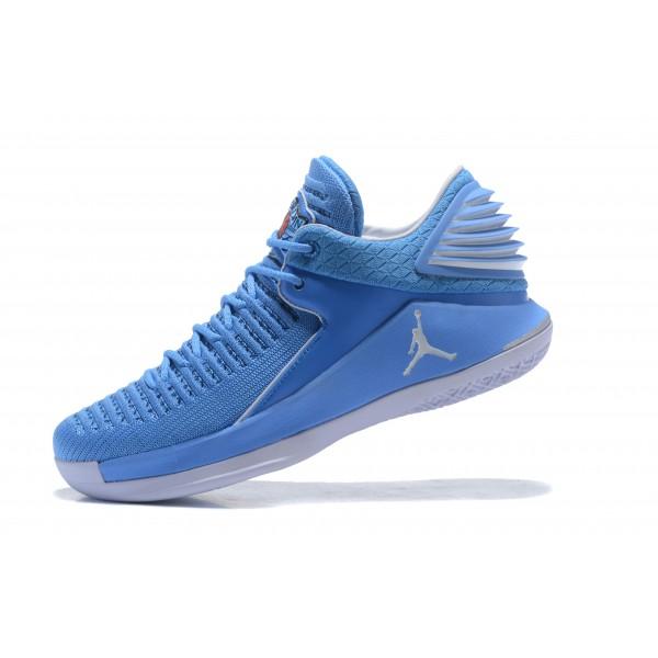 Men New Air Jordan 32 Low UNC University Blue White