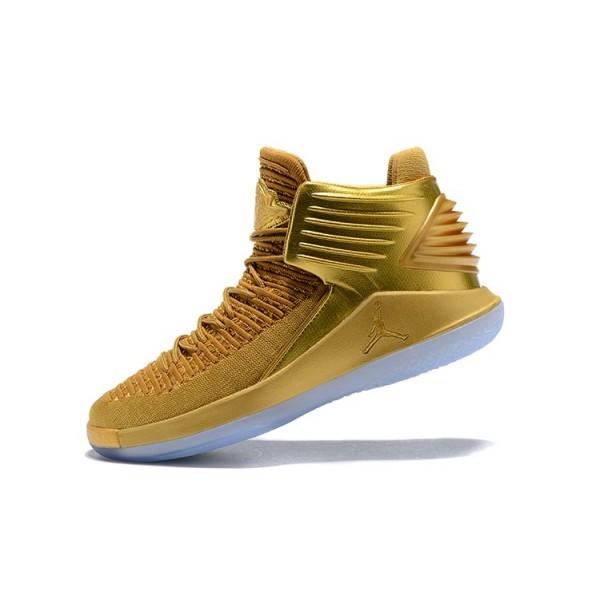 Men New Air Jordan 32 Metallic Gold