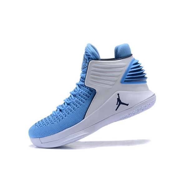 Men New Air Jordan 32 UNC Tar Heels PE