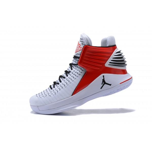 Men New Air Jordan 32 White Red Black