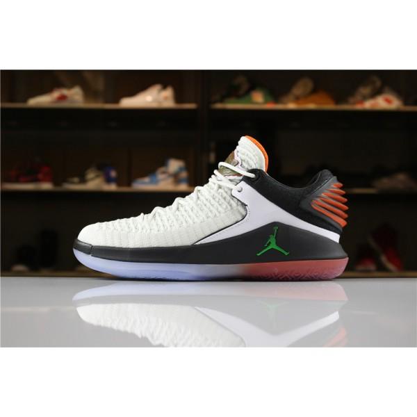Men New Air Jordan 32 Low Gatorade White Black Team Orange