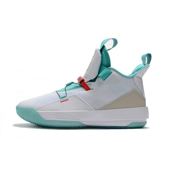 Men 2018 Air Jordan 33 Guo Ailun PE White-Jade-Red