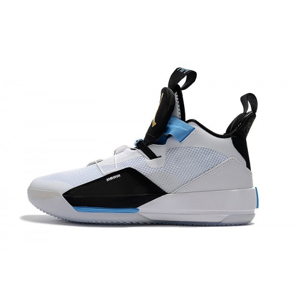 Men 2018 Air Jordan 33 Mike Conley PE White-Black-Blue
