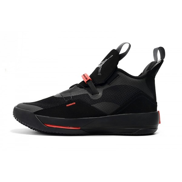 Men 2018 Air Jordan 33 Shoes Black-University Red