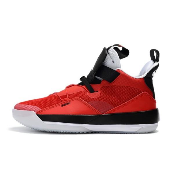 Men 2019 Air Jordan 33 CNY University Red-Black-White