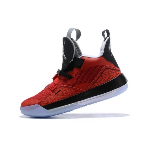 Men Air Jordan 33 Fire Red-Black-White