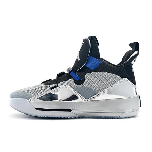 Men Air Jordan 33 XXXIII All-Star Black-Metallic Silver