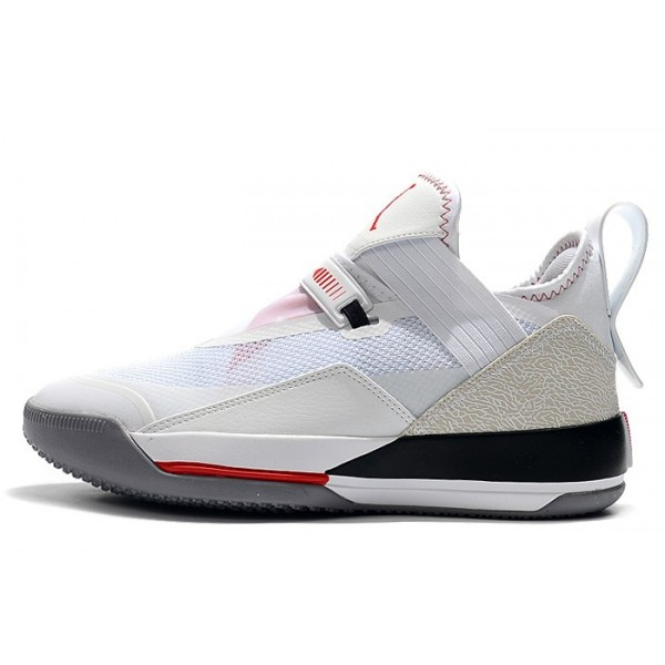 Men Air Jordan 33 Low SE White-Metallic Gold-Gym Red