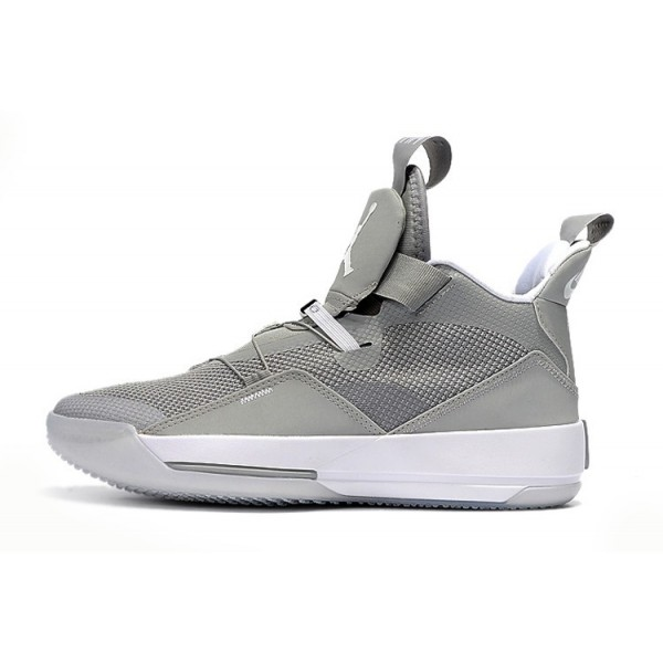 Men New Air Jordan 33 Cool Grey-White