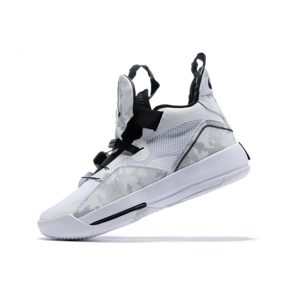 Men New Air Jordan 33 White Black-Grey
