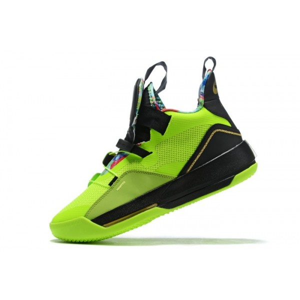 Men Nike Air Jordan 33 Green-Black-Multi-Color