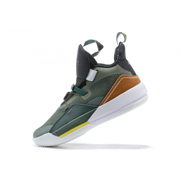 Men Travis Scott x Air Jordan 33 NRG Army Olive