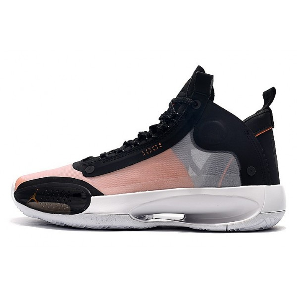 Men Air Jordan 34 Black-Orange-Pink-White