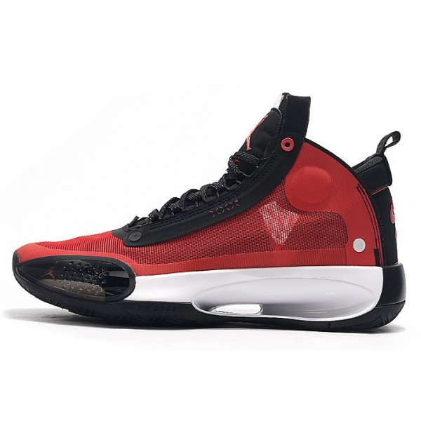 Men Air Jordan 34 Varsity Red Black-White