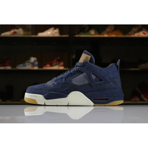 Men/Women Levis x Air Jordan 4 IV Denim AO2571-401