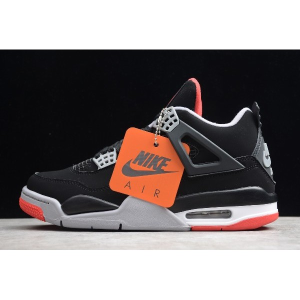 Men Air Jordan 4 Bred Black Cement 308497-060