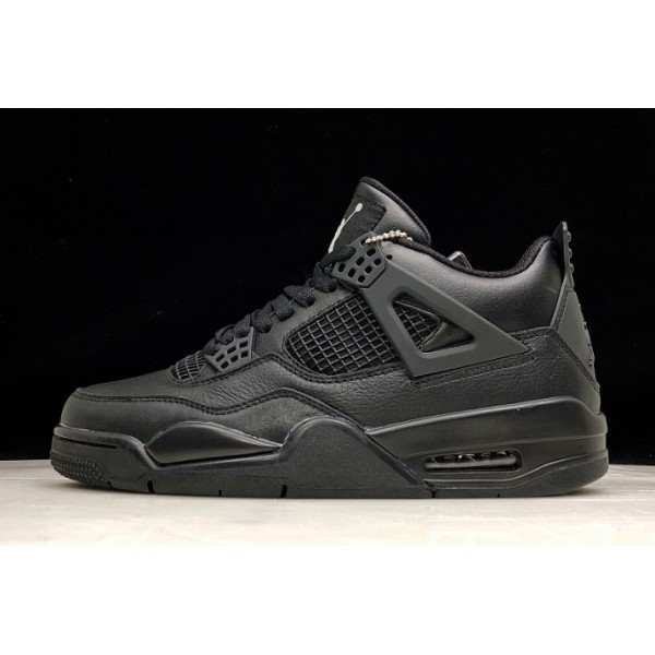 Men Air Jordan 4 Retro Black Cat All Black 308497-002