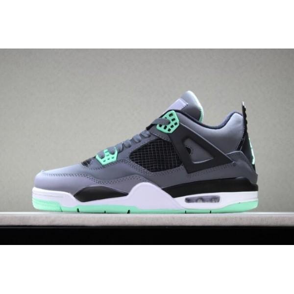 Men Air Jordan 4 Retro Green Glow Dark Grey