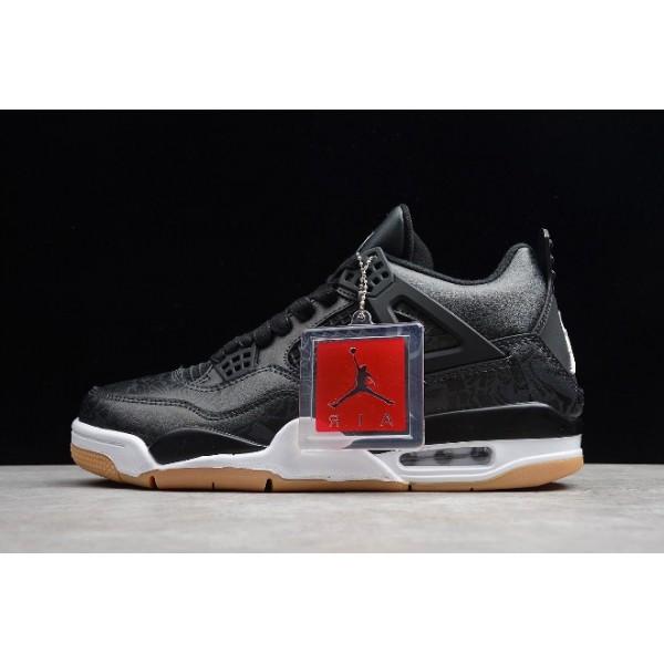 Men Air Jordan 4 Retro Laser Black Gum CI1184-001