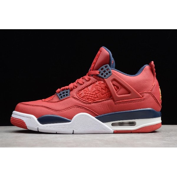 Men Air Jordan 4 FIBA Gym Red CI1184-617