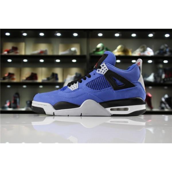 Men Eminem x Air Jordan 4 Encore Blue Black-Grey Red