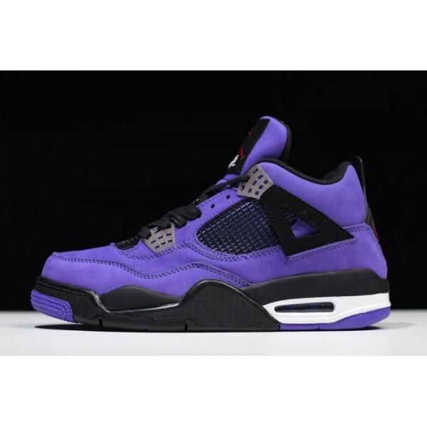 Mens Travis Scott x Air Jordan 4 Purple 308497-510