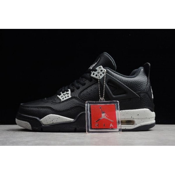 Men Mens Air Jordan 4 IV Retro LS Oreo Black Tech Grey