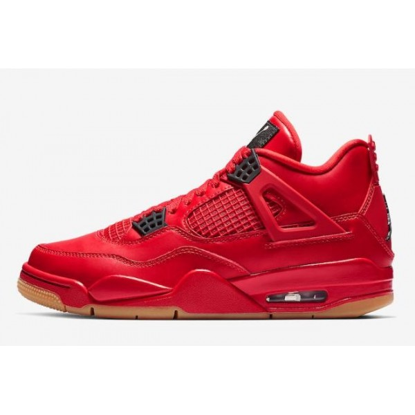 Men/Women Air Jordan 4 Singles Day Fire Red Summit White-Black