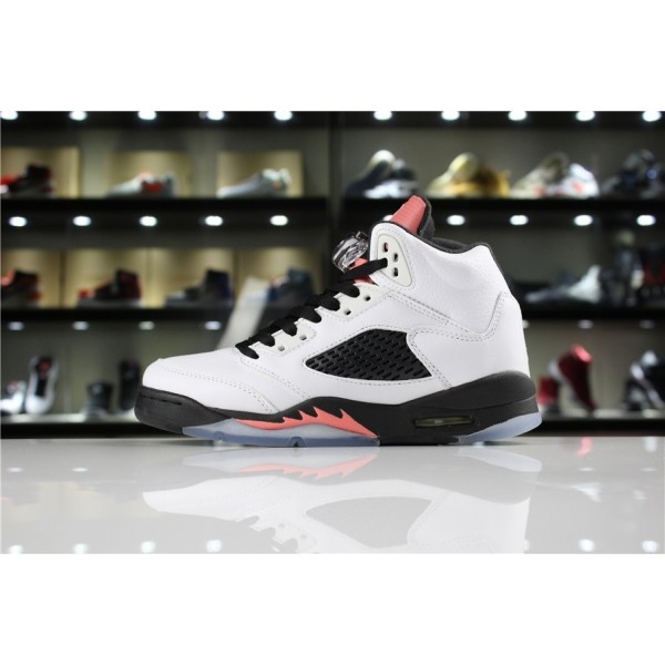 Women Air Jordan 5 GS Sunblush White Sunblush-Black