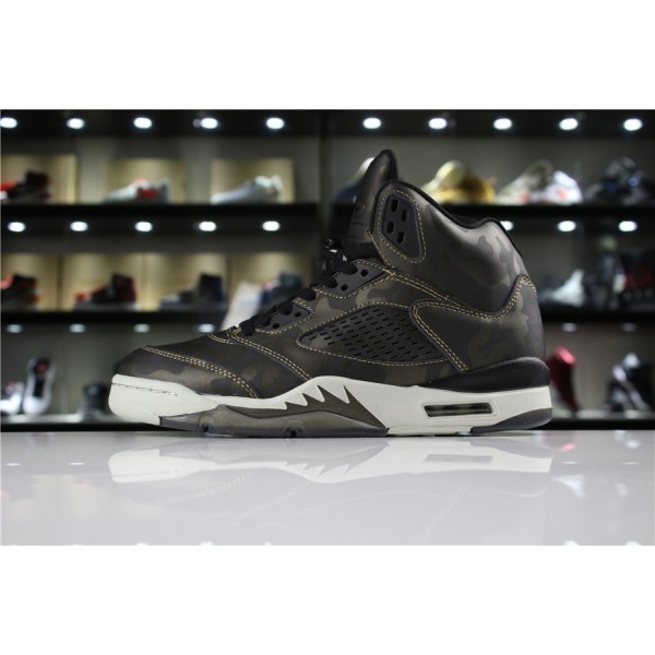 Men/Women Air Jordan 5 Premium Heiress Metallic Field Camo