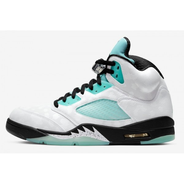 Men Air Jordan 5s Island Green
