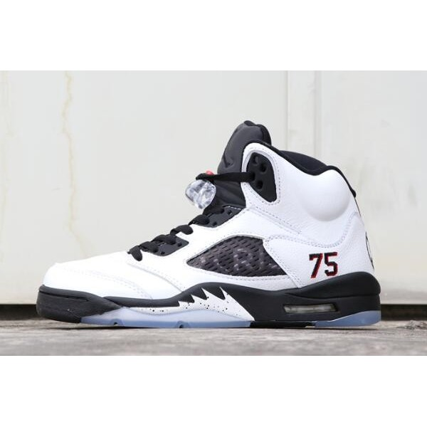 Men PSG x Air Jordan 5 Friends and Family White Black