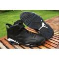 Men Air Jordan 6 Retro Black Cat Black White