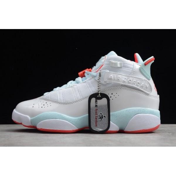 Women Air Jordan 6 Rings White Ember Glow-Topaz Mist
