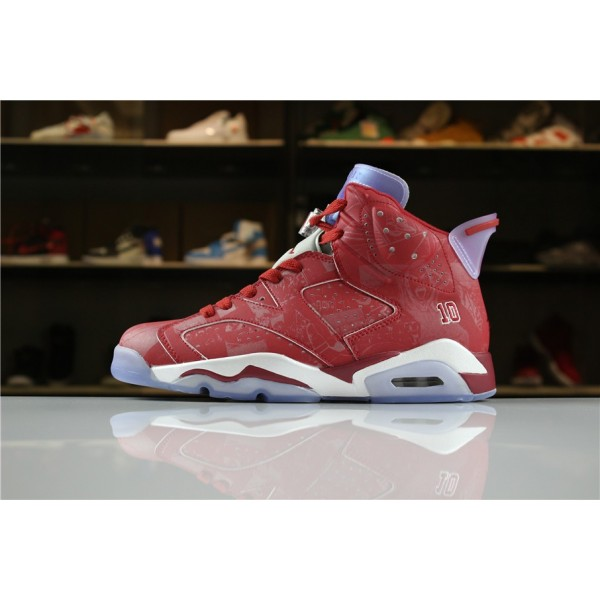 Men Air Jordan 6 Slam Dunk Varsity Red White