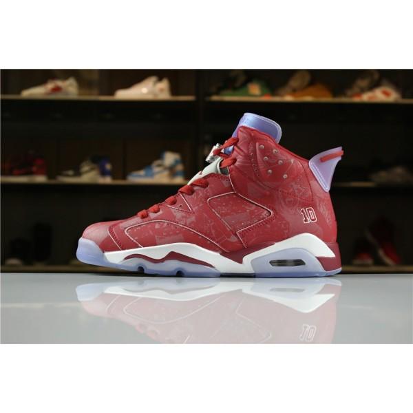 Men Air Jordan 6 Slam Dunk Varsity Red White