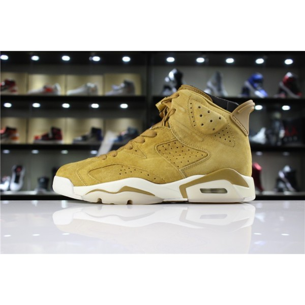Men/Women Air Jordan 6 Wheat Golden Harvest Elemental Gold