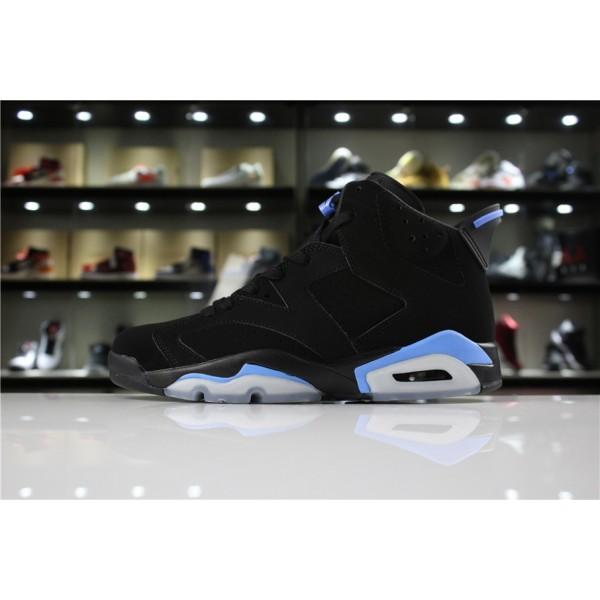 Men/Women Air Jordan 6 UNC Black University Blue
