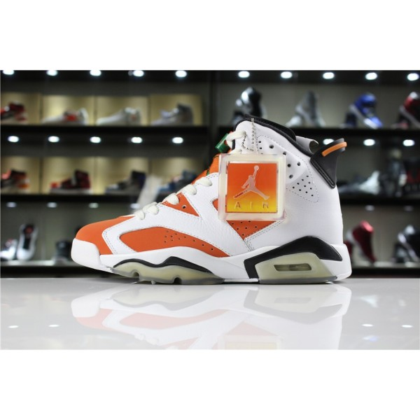 Men Air Jordan 6 Gatorade Summit White Black-Team Orange