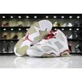 Men/Women Air Jordan 6 VI Hare White Pure Platinum-Gym Red