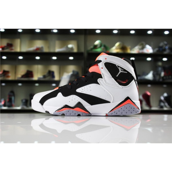 Women Air Jordan 7 GS Hot Lava White Black Hot Lava