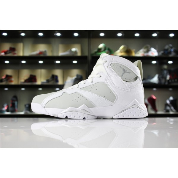 Men/Women Air Jordan 7 White Metallic Silver Pure Platinum