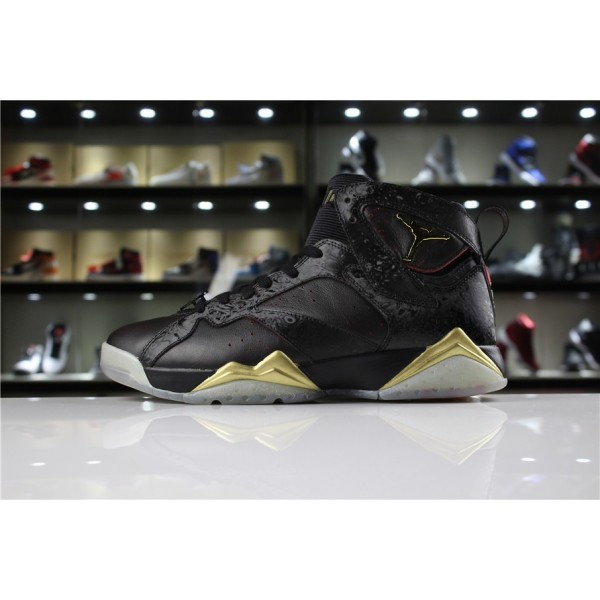 Men Air Jordan 7 Doernbecher Black Gold