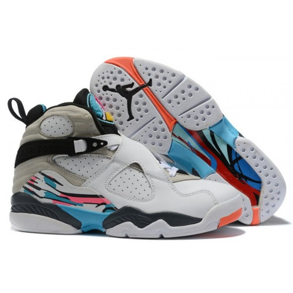 Men Air Jordan 8 Retro South Beach White Green